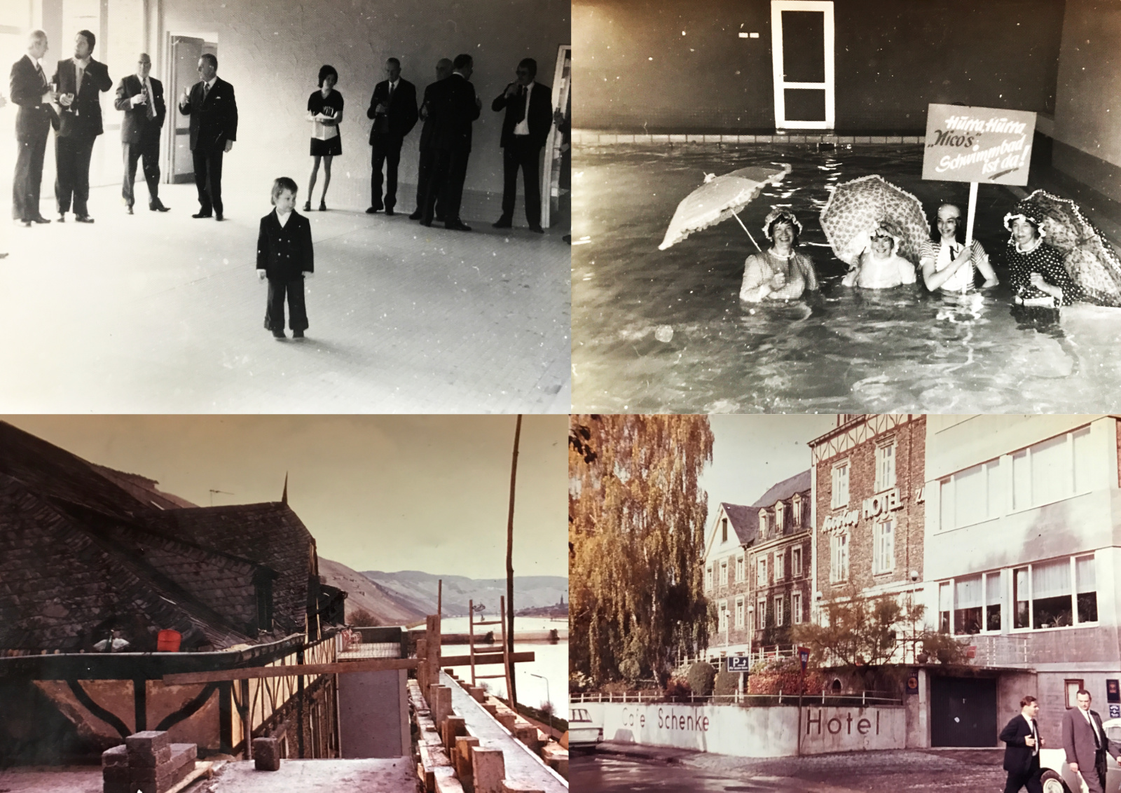 1972_3 Schwimmbad-Eröffnung weitere Umbauten Hotel Nicolay Johannes Nicolay